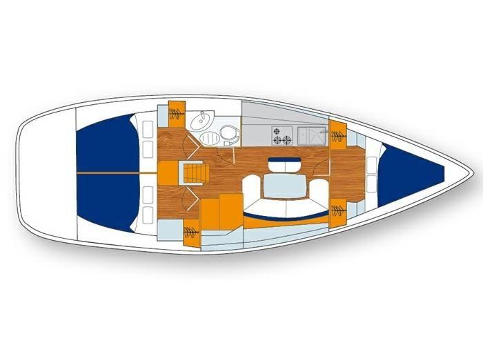 Triple cabin layout