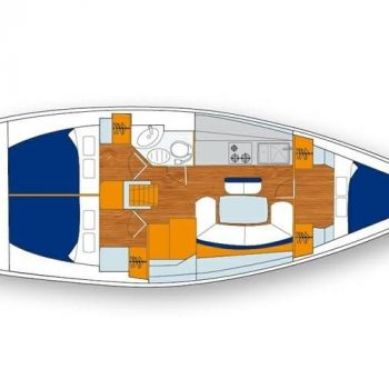 Triple cabin layout